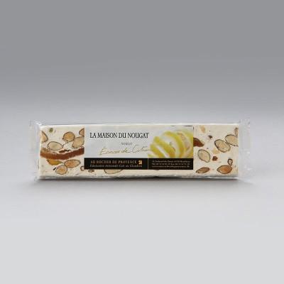 Barre nougat tendre aux écorces de citron 100g