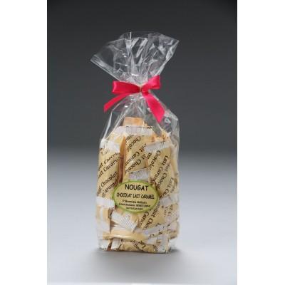 Sachet dominos nougat tendre au chocolat lait caramel 250g