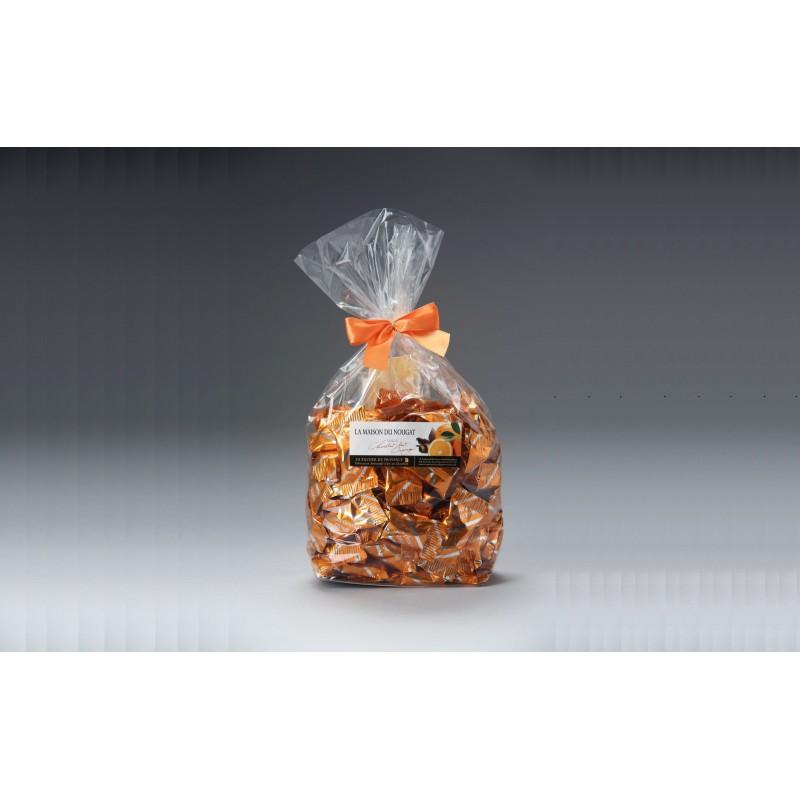 Sachet dominos nougat tendre premium enrob au chocolat - Boutique orange montelimar ...