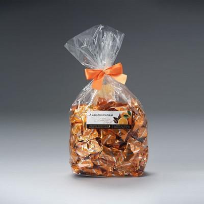 Sachet dominos nougat tendre Premium enrobé au chocolat lait orange 500g