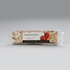 Barre nougat tendre aux fraises 100g