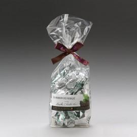Sachet dominos nougat tendre menthe au chocolat noir 250g