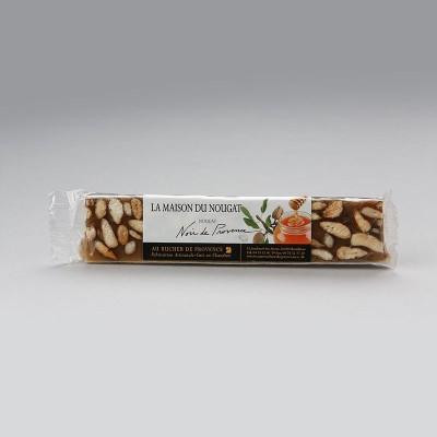 Barre nougat noir de Provence tendre Premium 100g