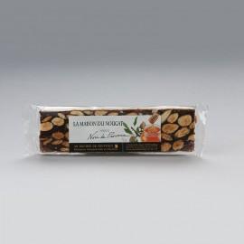 Barre nougat noir de Provence dur Premium 100g