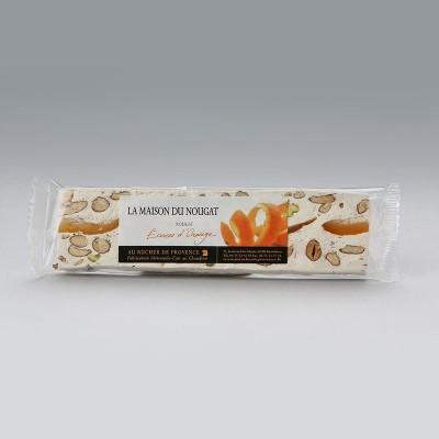 Barre nougat tendre aux écorces d'orange 100g