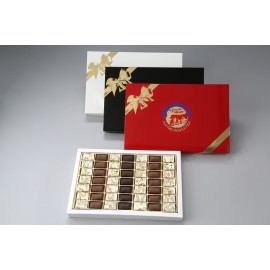 Coffret assortiment 49 dominos nougat tendre Premium et enrobé chocolat 440g