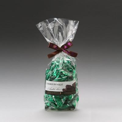 Sachet dominos nougat tendre Premium enrobé au chocolat noir 250g